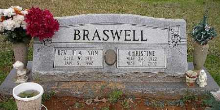 BRASWELL, CHRISTINE - Ashley County, Arkansas | CHRISTINE BRASWELL - Arkansas Gravestone Photos