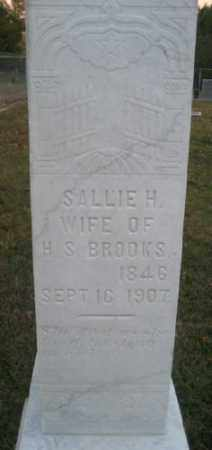 BARRINGER BROOKS, SALLIE H. - Ashley County, Arkansas | SALLIE H. BARRINGER BROOKS - Arkansas Gravestone Photos