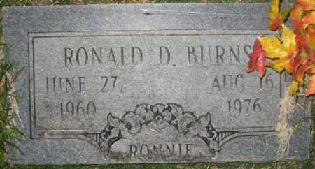 BURNS, RONALD D. - Ashley County, Arkansas | RONALD D. BURNS - Arkansas Gravestone Photos