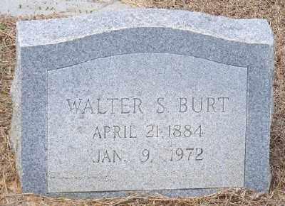 BURT, WALTER S. - Ashley County, Arkansas | WALTER S. BURT - Arkansas Gravestone Photos