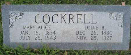 COCKRELL, LOUIE B. - Ashley County, Arkansas | LOUIE B. COCKRELL - Arkansas Gravestone Photos