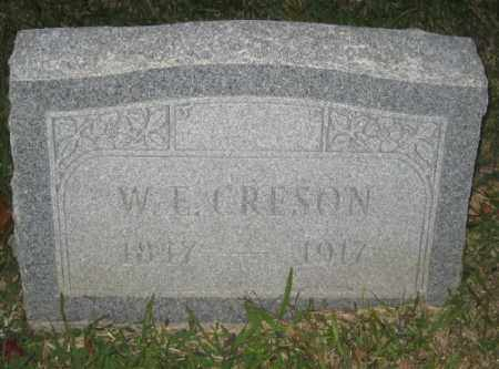 CRESON, W. E. - Ashley County, Arkansas | W. E. CRESON - Arkansas Gravestone Photos