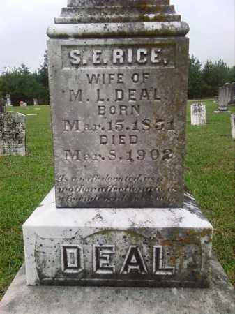 RICE DEAL (2), S. E. - Ashley County, Arkansas | S. E. RICE DEAL (2) - Arkansas Gravestone Photos