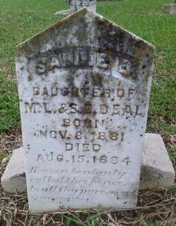 DEAL, SALLIE B - Ashley County, Arkansas | SALLIE B DEAL - Arkansas Gravestone Photos