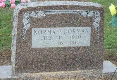 DORMAN, NORMA P. - Ashley County, Arkansas | NORMA P. DORMAN - Arkansas Gravestone Photos
