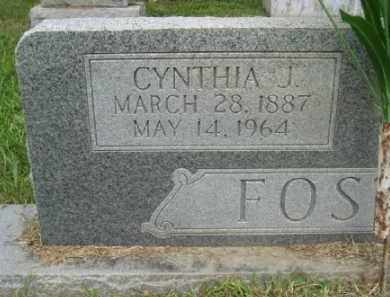 FOSTER, CYNTHIA JANE - Ashley County, Arkansas | CYNTHIA JANE FOSTER - Arkansas Gravestone Photos