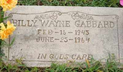 GABBARD, BILLY WAYNE - Ashley County, Arkansas | BILLY WAYNE GABBARD - Arkansas Gravestone Photos