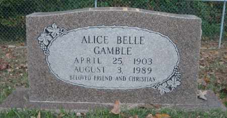 GAMBLE, ALICE BELLE - Ashley County, Arkansas | ALICE BELLE GAMBLE - Arkansas Gravestone Photos