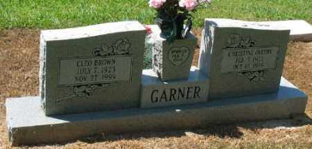 GARNER, CHRISTINE - Ashley County, Arkansas | CHRISTINE GARNER - Arkansas Gravestone Photos