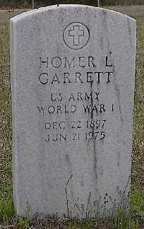 GARRETT (VETERAN WWI), HOMER L - Ashley County, Arkansas | HOMER L GARRETT (VETERAN WWI) - Arkansas Gravestone Photos