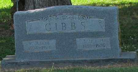 GIBBS, W. JUDDIE - Ashley County, Arkansas | W. JUDDIE GIBBS - Arkansas Gravestone Photos