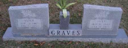 GRAVES, ALICE - Ashley County, Arkansas | ALICE GRAVES - Arkansas Gravestone Photos