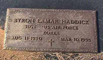 HADDICK (VETERAN KOR), BYRON LAMAR - Ashley County, Arkansas | BYRON LAMAR HADDICK (VETERAN KOR) - Arkansas Gravestone Photos