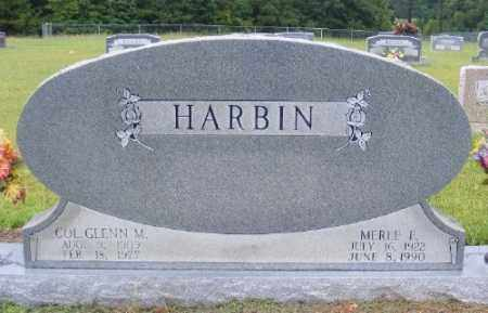 HARBIN, GLENN M. - Ashley County, Arkansas | GLENN M. HARBIN - Arkansas Gravestone Photos