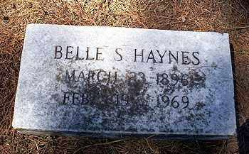 HAYNES, BELLE S. - Ashley County, Arkansas | BELLE S. HAYNES - Arkansas Gravestone Photos
