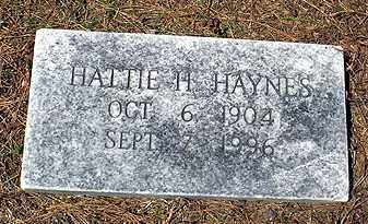 HAYNES, HATTIE H. - Ashley County, Arkansas | HATTIE H. HAYNES - Arkansas Gravestone Photos