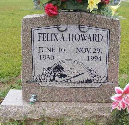 HOWARD, FELIX A. - Ashley County, Arkansas | FELIX A. HOWARD - Arkansas Gravestone Photos