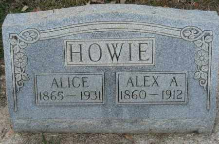 HOWIE, ALEX A. - Ashley County, Arkansas | ALEX A. HOWIE - Arkansas Gravestone Photos