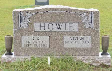 HOWIE, D. W. - Ashley County, Arkansas | D. W. HOWIE - Arkansas Gravestone Photos