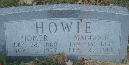 HOWIE, MAGGIE K. - Ashley County, Arkansas | MAGGIE K. HOWIE - Arkansas Gravestone Photos