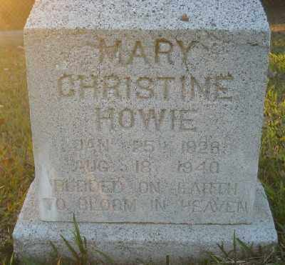 HOWIE, MARY CHRISTINE - Ashley County, Arkansas | MARY CHRISTINE HOWIE - Arkansas Gravestone Photos