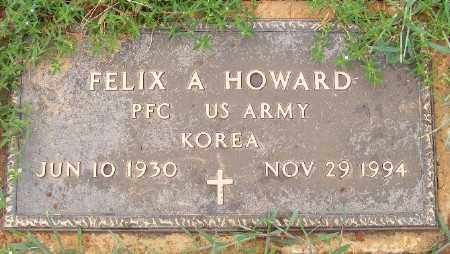 HOWARD (VETERAN KOR), FELIX A - Ashley County, Arkansas | FELIX A HOWARD (VETERAN KOR) - Arkansas Gravestone Photos