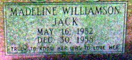 WILLIAMSON JACK, MADELINE - Ashley County, Arkansas | MADELINE WILLIAMSON JACK - Arkansas Gravestone Photos