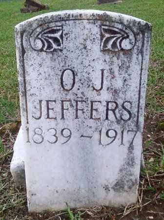 JEFFERS, O. J. - Ashley County, Arkansas | O. J. JEFFERS - Arkansas Gravestone Photos