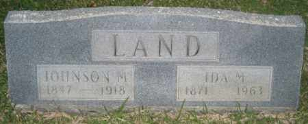 LAND, JOHNSON M. - Ashley County, Arkansas | JOHNSON M. LAND - Arkansas Gravestone Photos