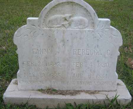 LINDSAY, FANNY - Ashley County, Arkansas | FANNY LINDSAY - Arkansas Gravestone Photos