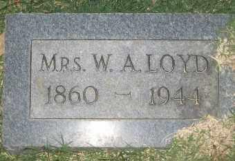 LOYD, MRS. W. A. - Ashley County, Arkansas | MRS. W. A. LOYD - Arkansas Gravestone Photos
