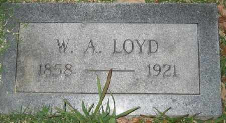 LOYD, W. A. - Ashley County, Arkansas | W. A. LOYD - Arkansas Gravestone Photos