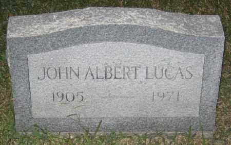 LUCAS, JOHN ALBERT - Ashley County, Arkansas | JOHN ALBERT LUCAS - Arkansas Gravestone Photos