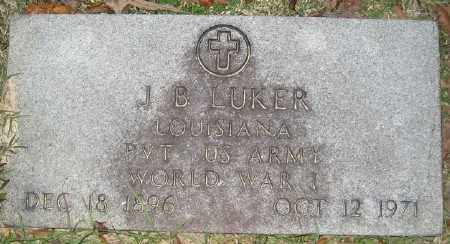 LUKER (VETERAN WWI), J B - Ashley County, Arkansas | J B LUKER (VETERAN WWI) - Arkansas Gravestone Photos