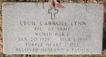LYNN (VETERAN WWII), CECIL CARROLL - Ashley County, Arkansas | CECIL CARROLL LYNN (VETERAN WWII) - Arkansas Gravestone Photos