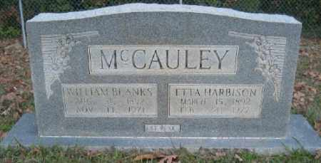 MCCAULEY, WILLIAM BLANKS - Ashley County, Arkansas | WILLIAM BLANKS MCCAULEY - Arkansas Gravestone Photos