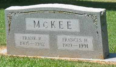 MCKEE, FRANCES H - Ashley County, Arkansas | FRANCES H MCKEE - Arkansas Gravestone Photos