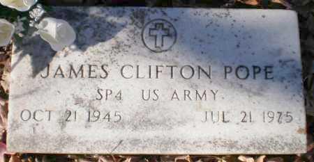 POPE (VETERAN), JAMES CLIFTON - Ashley County, Arkansas | JAMES CLIFTON POPE (VETERAN) - Arkansas Gravestone Photos