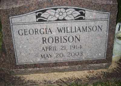 WILLIAMSON ROBINSON, GEORGIA BEATRICE - Ashley County, Arkansas | GEORGIA BEATRICE WILLIAMSON ROBINSON - Arkansas Gravestone Photos