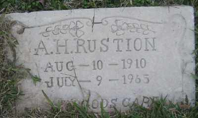 RUSTION, A. H. - Ashley County, Arkansas | A. H. RUSTION - Arkansas Gravestone Photos