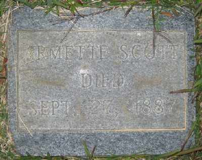 SCOTT, ARMETTE - Ashley County, Arkansas | ARMETTE SCOTT - Arkansas Gravestone Photos