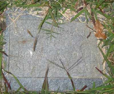 SCOTT, BABY DAUGHTER - Ashley County, Arkansas | BABY DAUGHTER SCOTT - Arkansas Gravestone Photos