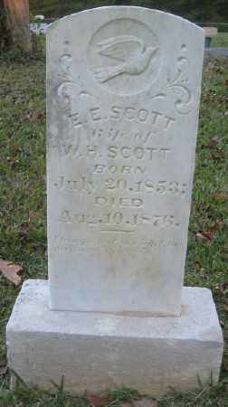 SCOTT, E. E. - Ashley County, Arkansas | E. E. SCOTT - Arkansas Gravestone Photos