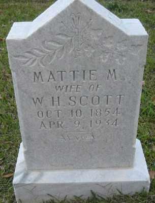SCOTT, MATTIE M. - Ashley County, Arkansas | MATTIE M. SCOTT - Arkansas Gravestone Photos