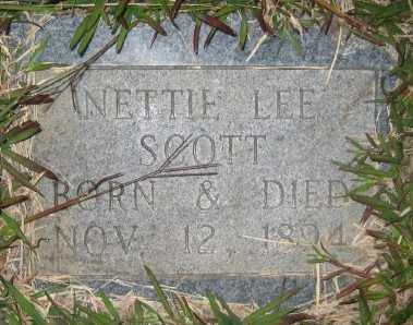 SCOTT, NETTIE LEE - Ashley County, Arkansas | NETTIE LEE SCOTT - Arkansas Gravestone Photos