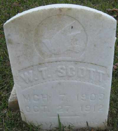 SCOTT, W. T. - Ashley County, Arkansas | W. T. SCOTT - Arkansas Gravestone Photos