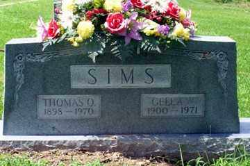 SIMS, GELLA W. - Ashley County, Arkansas | GELLA W. SIMS - Arkansas Gravestone Photos