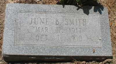SMITH, JUNE B. - Ashley County, Arkansas   JUNE B. SMITH - Arkansas Gravestone Photos