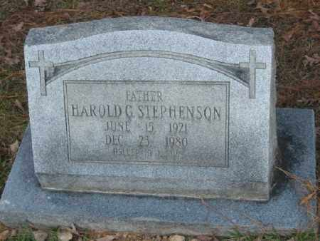 STEPHENSON, HAROLD G. - Ashley County, Arkansas | HAROLD G. STEPHENSON - Arkansas Gravestone Photos