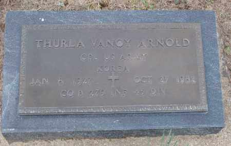 ARNOLD  (VETERAN KOR), THURLA VANOY - Baxter County, Arkansas | THURLA VANOY ARNOLD  (VETERAN KOR) - Arkansas Gravestone Photos
